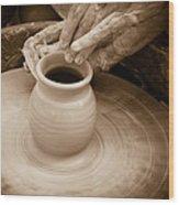 Amazing Hands Iv Wood Print