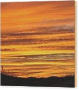 Amazing Sunset Over Obx Wood Print