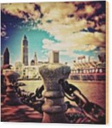 #amazing View Of #dowtown #cleveland Wood Print