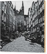 Amber Alley In Gdansk - Poland Wood Print