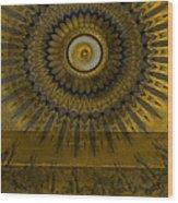Amber Wheel I Wood Print by Ricki Mountain