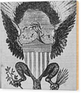 America: Coat Of Arms Wood Print