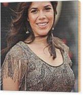 America Ferrera Wearing A James Wood Print by Everett
