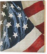 America Flag Wood Print