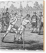 American Boxing, 1859 Wood Print