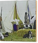 American Camp Wood Print