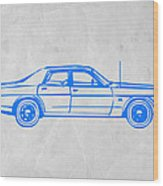 American Car Wood Print by Naxart Studio