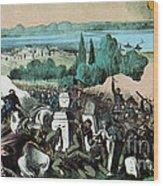 American Civil War, Battle Of Baton Wood Print