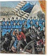 American Civil War, Battle Of Malvern Wood Print by Photo Researchers