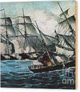 American Civil War, Battle Wood Print