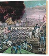 American Civil War, Capture Of Atlanta Wood Print