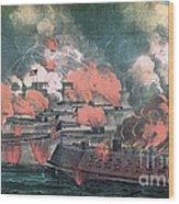 American Civil War, Great Fight Wood Print