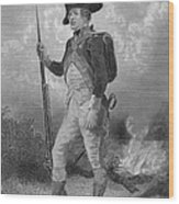 American Continental Soldier Wood Print