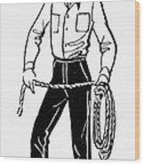 American Cowboy Wood Print