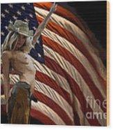 American Cowgirl Wood Print