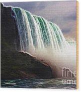 American Falls Power Wood Print