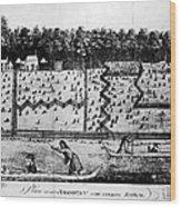 American Farm: Plan, 1793 Wood Print