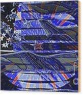 American Flag 3 Wood Print