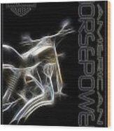 American Horsepower Wood Print