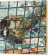 American Lobster In Trap In Chatham On Cape Cod Wood Print