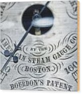 American Steam Gauge Wood Print