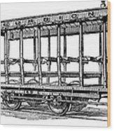 American: Streetcar, 1880s Wood Print by Granger