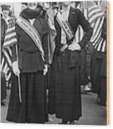 American Suffragists Wood Print