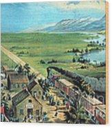 American Transcontinental Railroad Wood Print