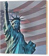 American Welcome Wood Print