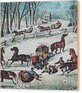 American Winter 1870 Wood Print