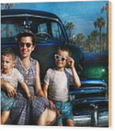 Americana - Car - The Classic American Vacation Wood Print