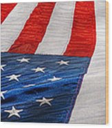 Americana - Flag - Stars And Stripes  Wood Print