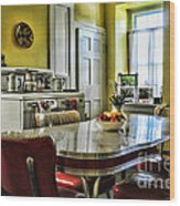 Americana - 1950 Kitchen - 1950s - Retro Kitchen Wood Print