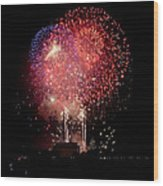 America's Celebration Wood Print by David Hahn