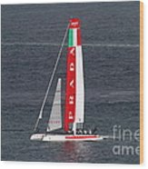 America's Cup In San Francisco - Italy Luna Rossa Paranha Sailboat - 7d19041 Wood Print by Wingsdomain Art and Photography