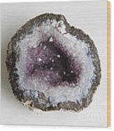 Amethyst Geode Wood Print