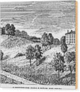 Amherst College, 1821 Wood Print