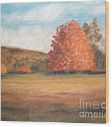 Amid The Tranquil Presence Of Change Wood Print