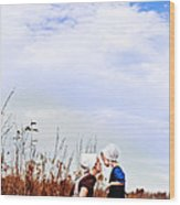 Amish Mother And Child Wood Print