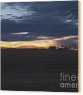 Amish Sunrise Wood Print