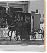 Amish Transportation Wood Print
