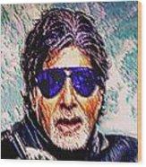 Amitabh Bachchan - God Of Bollywood Wood Print
