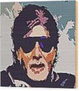 Amitabh Bachchan The Superstar Wood Print