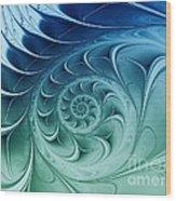 Ammonite Wood Print