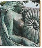 Ammonite Statue Wood Print