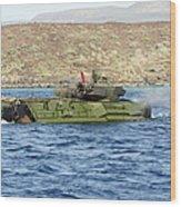 Amphibious Assault Vehicle Crewmen Wood Print
