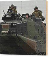 Amphibious Assault Vehicles Make Wood Print