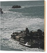 Amphibious Assault Vehicles Transit Wood Print