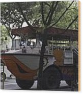 Amphibious Vehicle Used For Ducktour In Singapore Wood Print