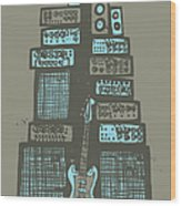 Ampliphones Wood Print by A Hornsby